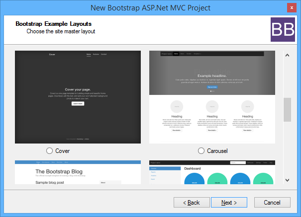 bootstrap bundle is a collection of item project templates that makes it easy to create an aspnet mvc project based on free bootstrap templates